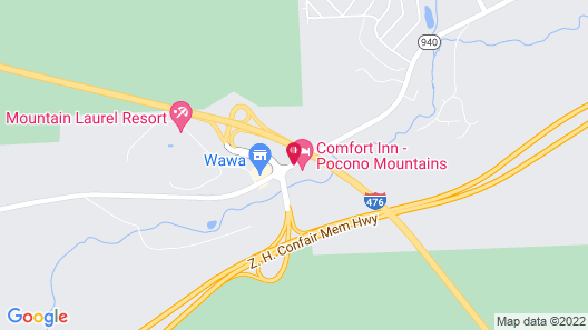 Comfort Inn - Pocono Mountains Map