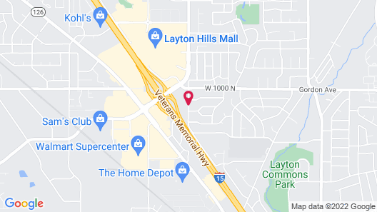 Comfort Inn Layton - Air Force Base Area Map