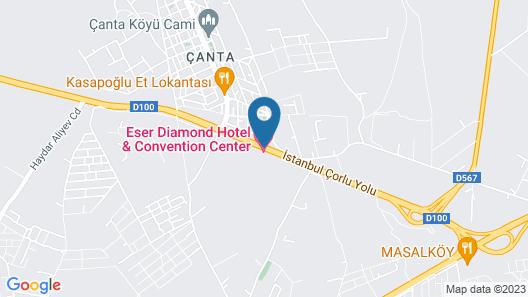 Eser Diamond Hotel & Convention Center Map
