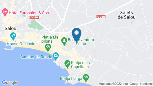 Golden Port Salou & Spa Map