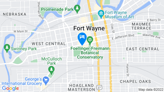 Hampton Inn & Suites Fort Wayne Downtown Map