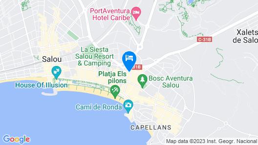 Apartamentos Los Peces Rentalmar Map