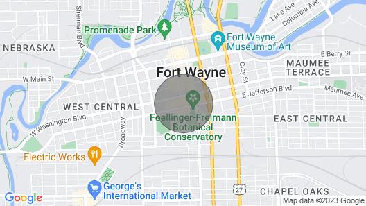 Hilton Fort Wayne at the Grand Wayne Center 4 Map