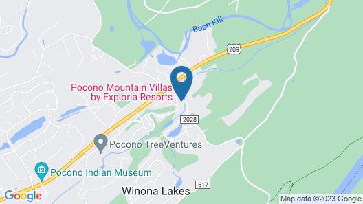 Pocono Mountain Villas Map