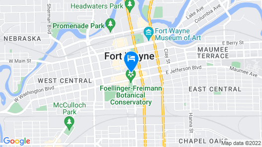 Hilton Fort Wayne at the Grand Wayne Convention Center Map