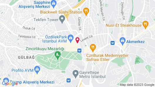 Wyndham Grand Istanbul Levent Map