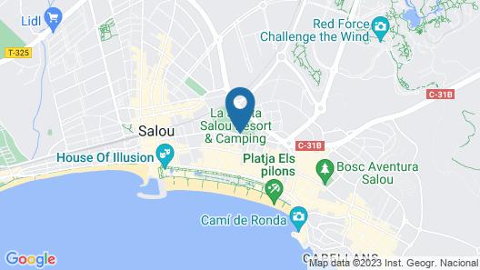 La Siesta Salou Resort & Camping Map