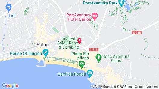 Les Dàlies Apartaments Map