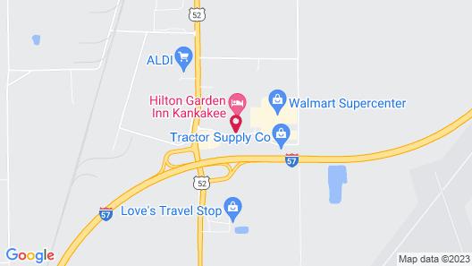 Hilton Garden Inn Kankakee Map