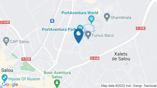 Hotel PortAventura - Theme Park Tickets Included Map