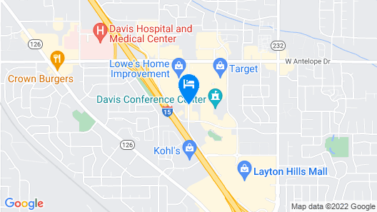 Hampton Inn Layton Map