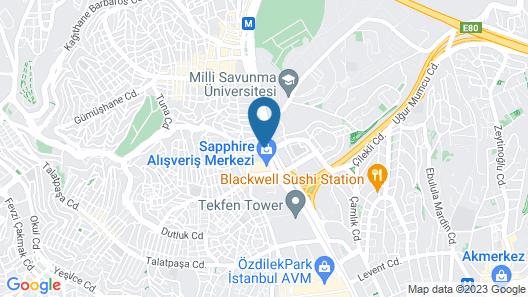 Sheraton Istanbul Levent Map