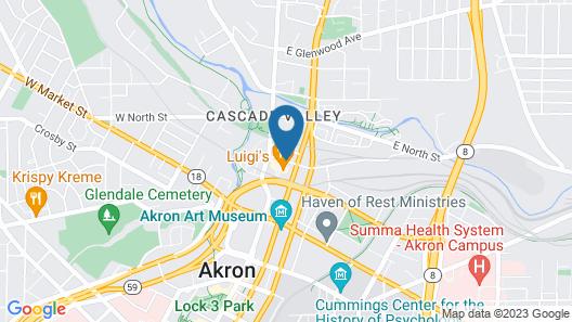 Courtyard Akron Downtown Map