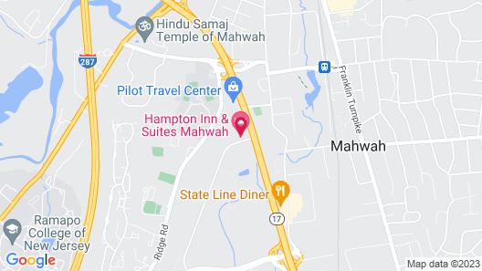 Hampton Inn & Suites Mahwah, NJ Map