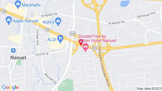 DoubleTree by Hilton Hotel Nanuet Map