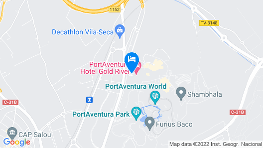 PortAventura Hotel Gold River - Theme Park Tickets Included Map