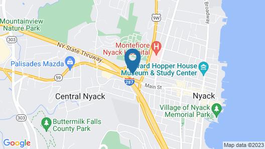 West Gate Inn Nyack Map