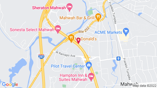 DoubleTree by Hilton Mahwah Map