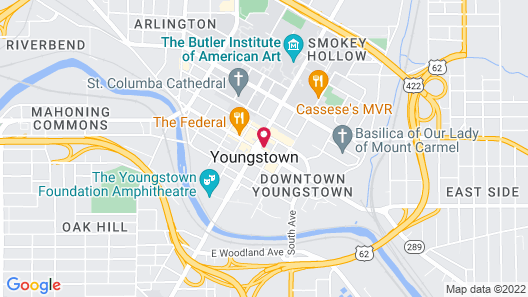 DoubleTree by Hilton Youngstown Downtown Map