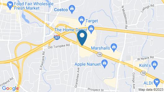 Hampton Inn Nanuet Map