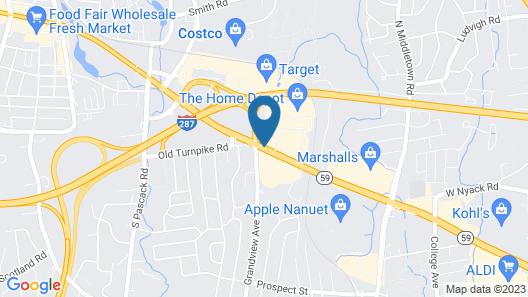 Hilton Garden Inn Nanuet Map