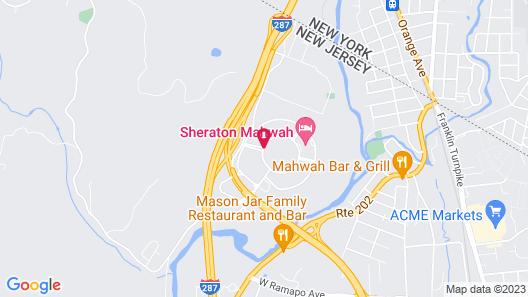 Sheraton Mahwah Hotel Map