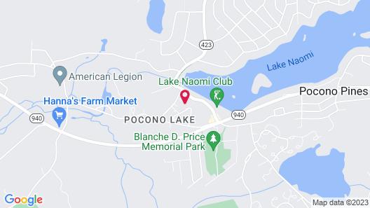 Paradise Pine Getaway Cabins Map