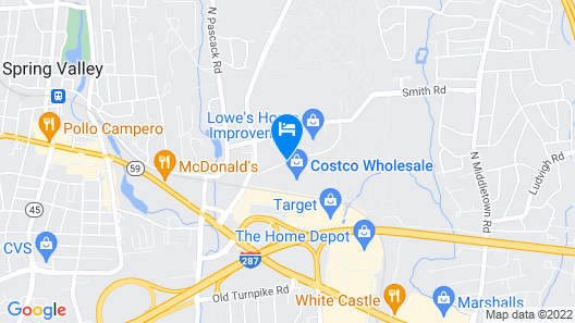 Candlewood Suites Nanuet - Rockland County Map