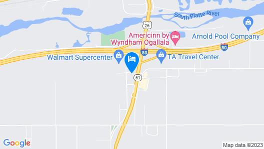 Best Western Plus Ogallala Inn Map