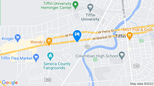 Tiffin Motel Map