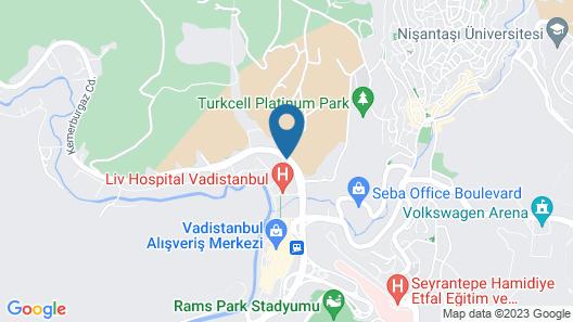 Radisson Residences Vadistanbul Map