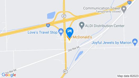Super 8 by Wyndham Dwight Map