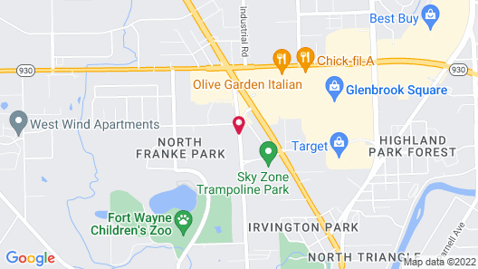 TownePlace Suites Fort Wayne North Map