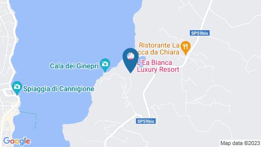 L'Ea Bianca Luxury Resort Map