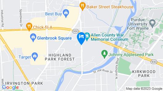Holiday Inn Purdue - Fort Wayne Map