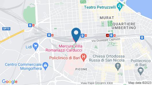 Mercure Villa Romanazzi Carducci Bari Map