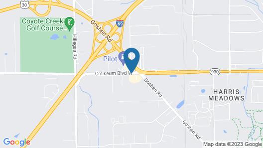 Motel 6 Fort Wayne, IN Map
