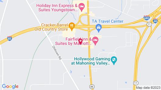 Sleep Inn Austintown Map