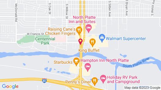 Motel 6 North Platte, NE Map