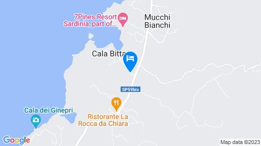 Hotel Li Graniti Map