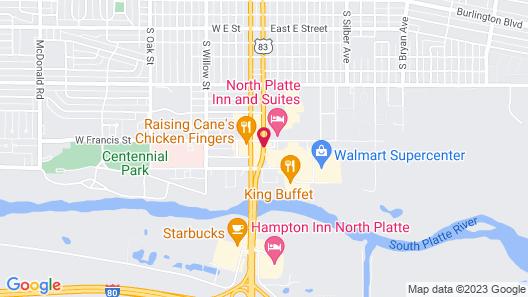 North Platte Inn & Suites Map