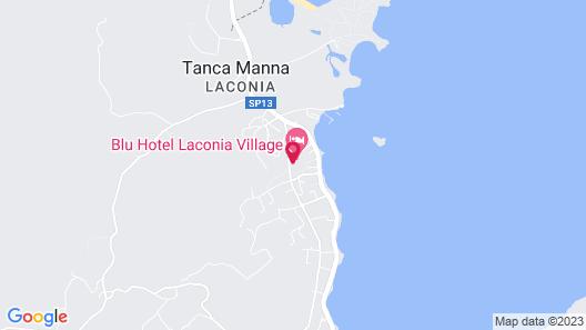 Blu Hotel Laconia Village Map