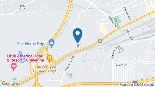 Motel 6 Cheyenne, WY Map