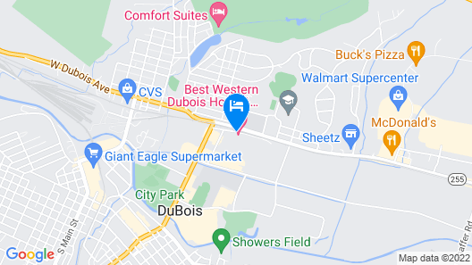 Best Western Inn & Conference Center Map