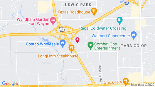 Candlewood Suites Fort Wayne, an IHG Hotel Map