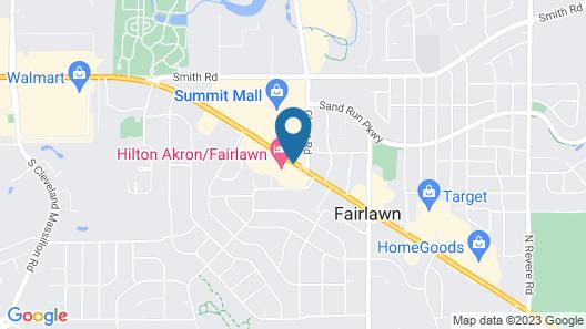Hilton Akron Fairlawn Map