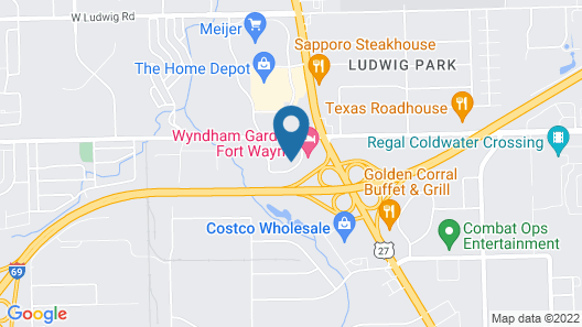 Extended Stay America Suites Fort Wayne North Map