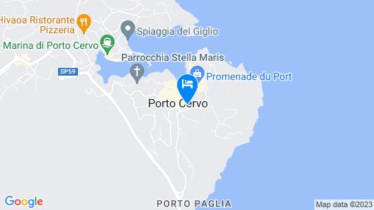 Cervo Hotel, Costa Smeralda Resort Map