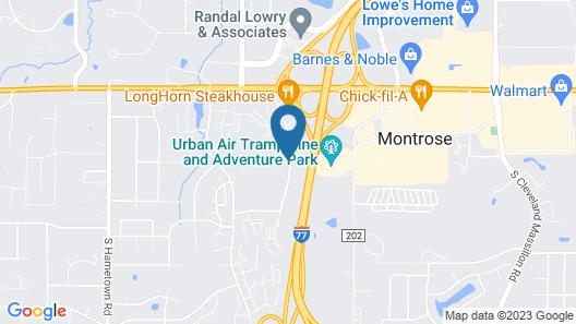 FairBridge Inn & Suites - Akron Copley Township - West Map
