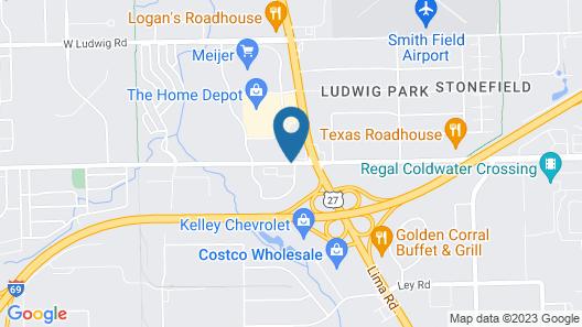 Quality Inn Fort Wayne Map